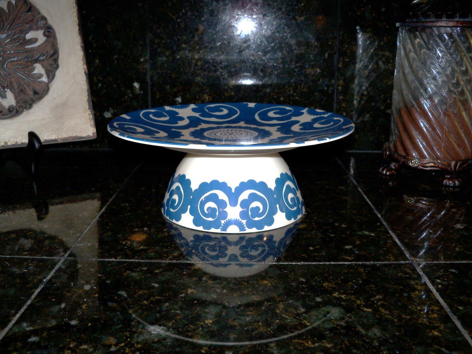 Dollar Store Ceramic Cake Plate
