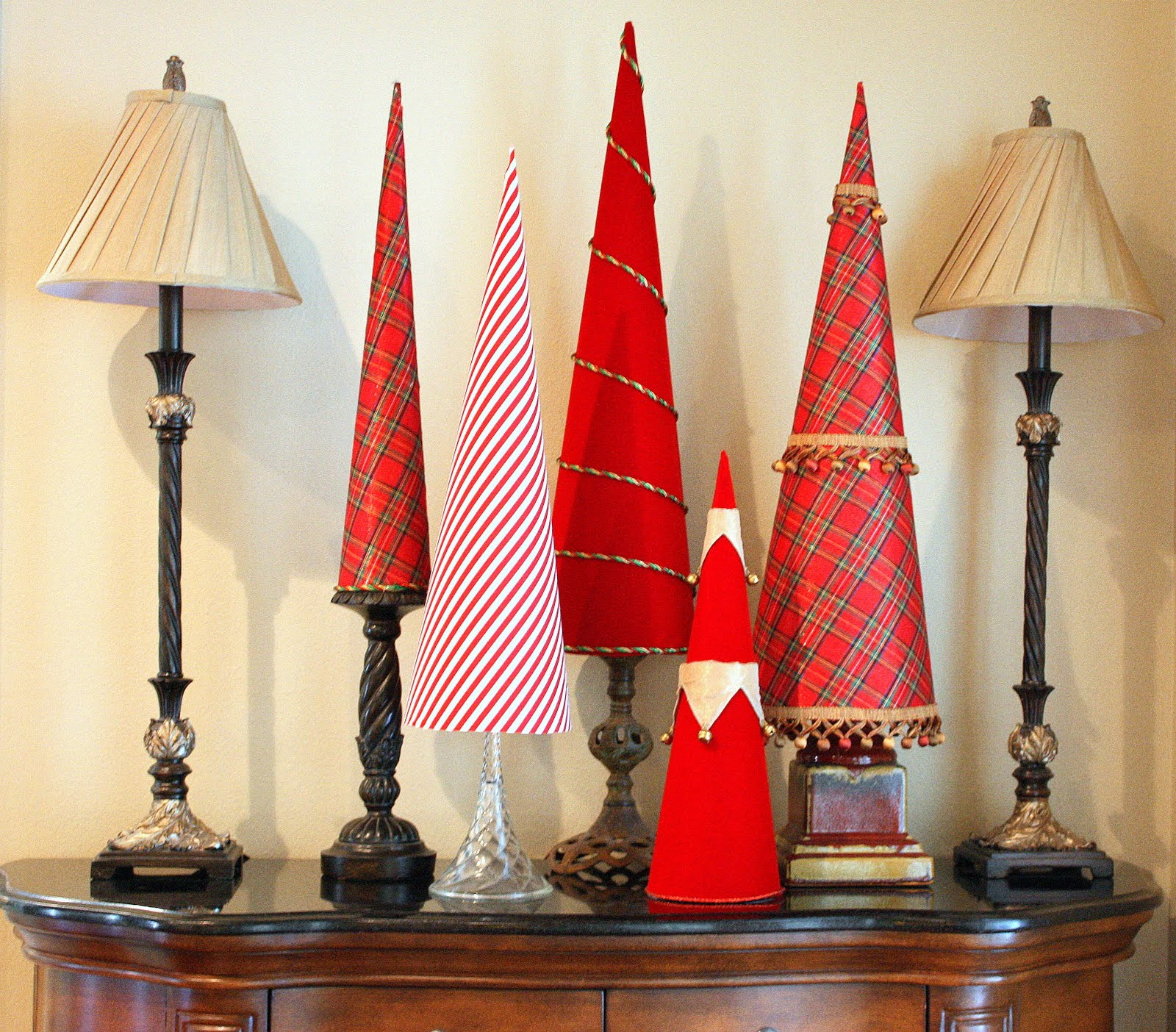 Paper Cone Tree Template Paper christmas cone trees