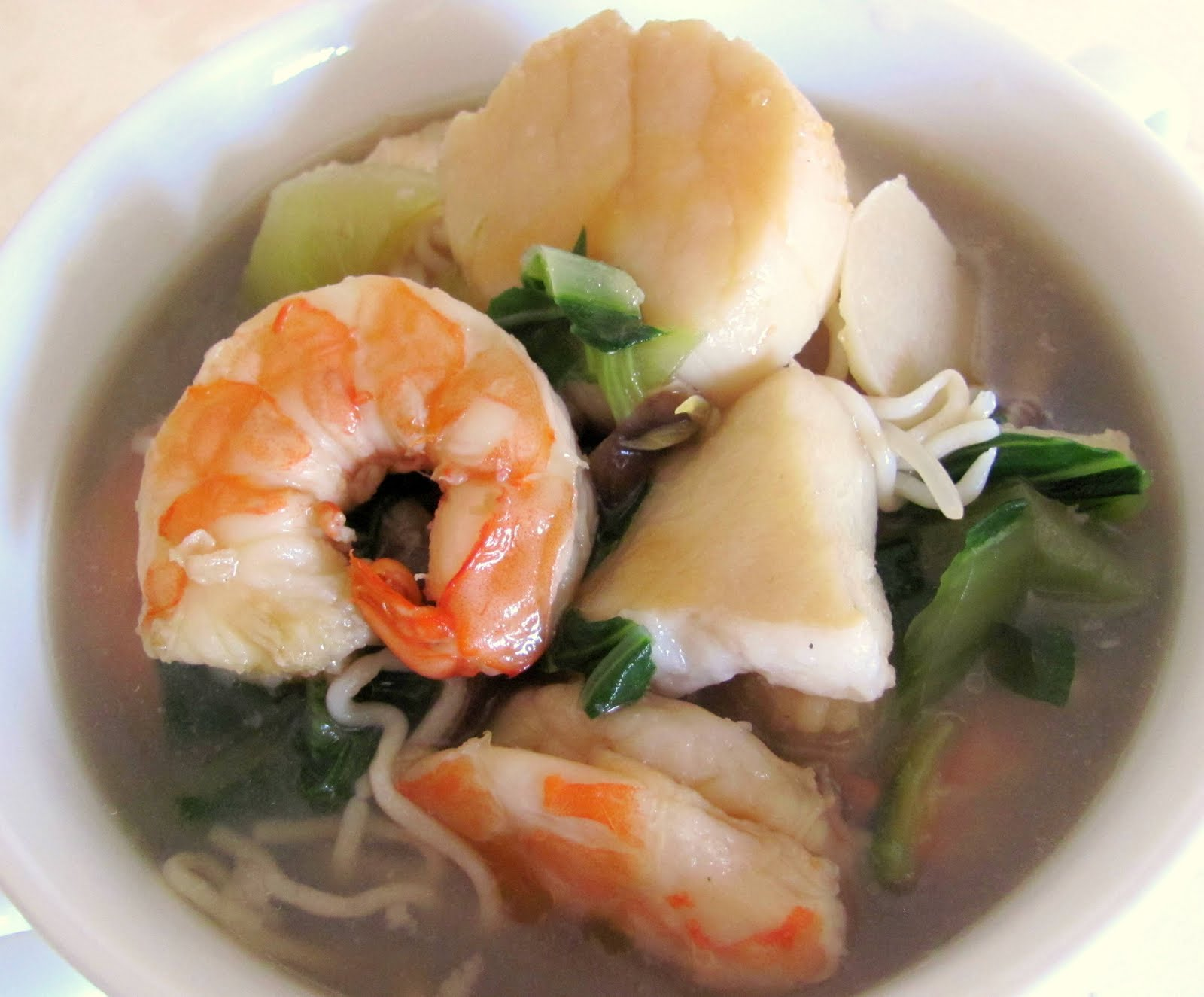 asian ginger seafood soup