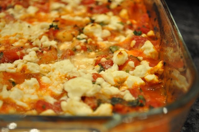 The Ginger Snap Girl: Shrimp Baked with Tomatoes and Feta