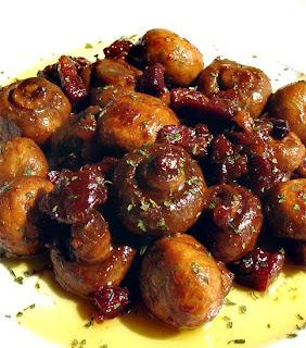 champiñones en salsa