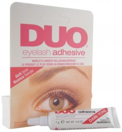 best eyelash glue. 2) ardell waterproof lash grip eyelash adhesive -you can pick this up at most drug stores and some of the lashes you buy it will come inside package . best glue s