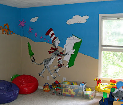 Here Are The Walls Of Our Kidu0027s Playroom.