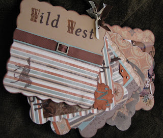 cowboy, album, scrapbook, outlaw, wanted, wild west, chipboard, cover, handmade