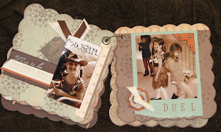 cowboy, album, scrapbook, outlaw, wanted, wild west, chipboard
