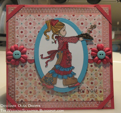 Willow with cookies, whiff of joy, handmade, card, Basic Grey, Stampin'Up!, girl, cookies