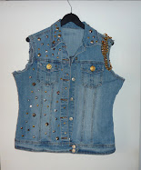 CUSTOM:JEAN JACKET STUDS &amp; CHAIN
