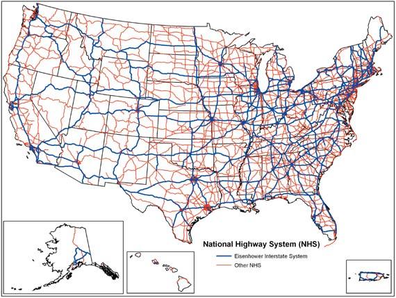 Free Us Interstate Map