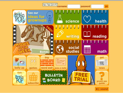 To explore all the BrainPOP Jr. movies, quizzes and other interactive games and features, select a subject area, click, and start learning! Go on, they're all Moby-approved.
