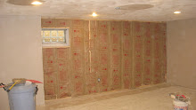 Basement finishing, Hung Insulation