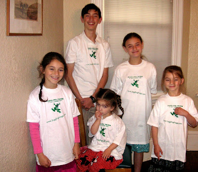 Juggling Frogs t-shirts on the kids in 2007