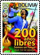 Sello postal del Bicentenario