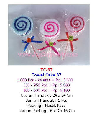 souvenir towel cake