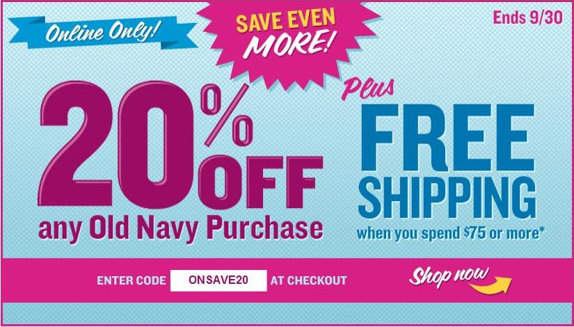 And don't forget to use your Old Navy coupon codes in store too! Old Navy is the place to be for the latest fashions at amazing prices. Check back every week for Old Navy's Item of the Week – a handpicked item sold at rock-bottom prices until it's sold out – and deals on all Old Navy fashions and accessories, including: /5(40).