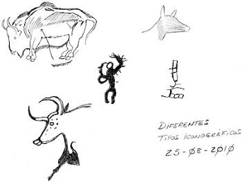 Dibujos prehistóricos de Paco de la Calle...