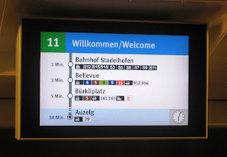 Zurich Real Time Public Transport Information