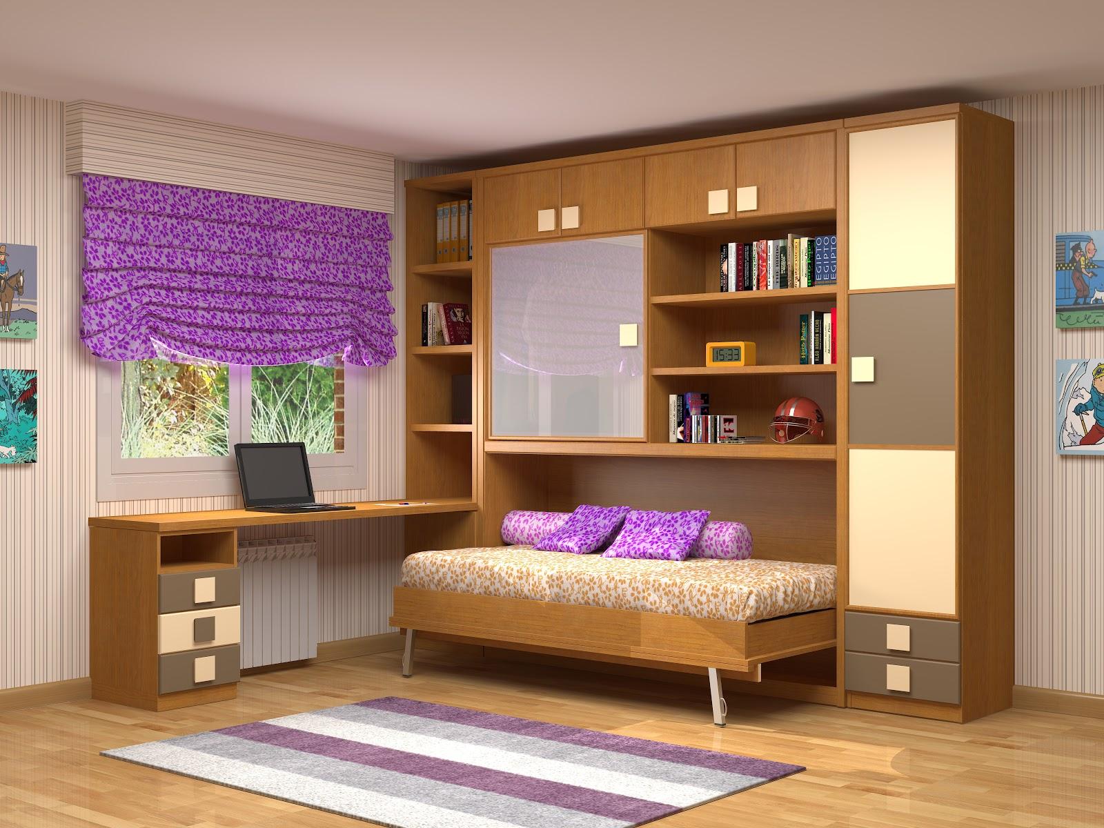 Muebles juveniles dormitorios infantiles y habitaciones juveniles en madrid camas plegables - Habitaciones juveniles con cama abatible ...