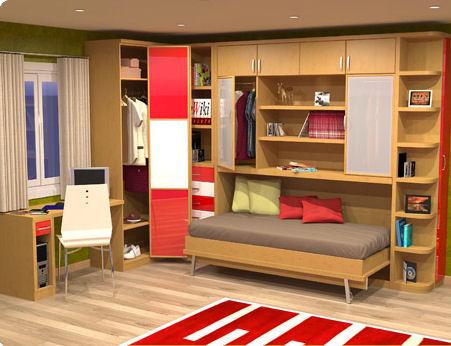 Muebles juveniles dormitorios infantiles y habitaciones juveniles en madrid camas plegables for Habitaciones juveniles 3 camas