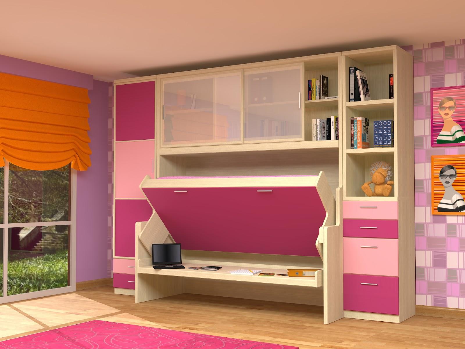 Cama mesa abatible camas autoportantes cama escritorio for Muebles de pared para dormitorio