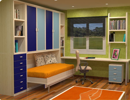 Camas abatibles en madrid camas abatibles toledo cama - Habitaciones en espacios reducidos ...