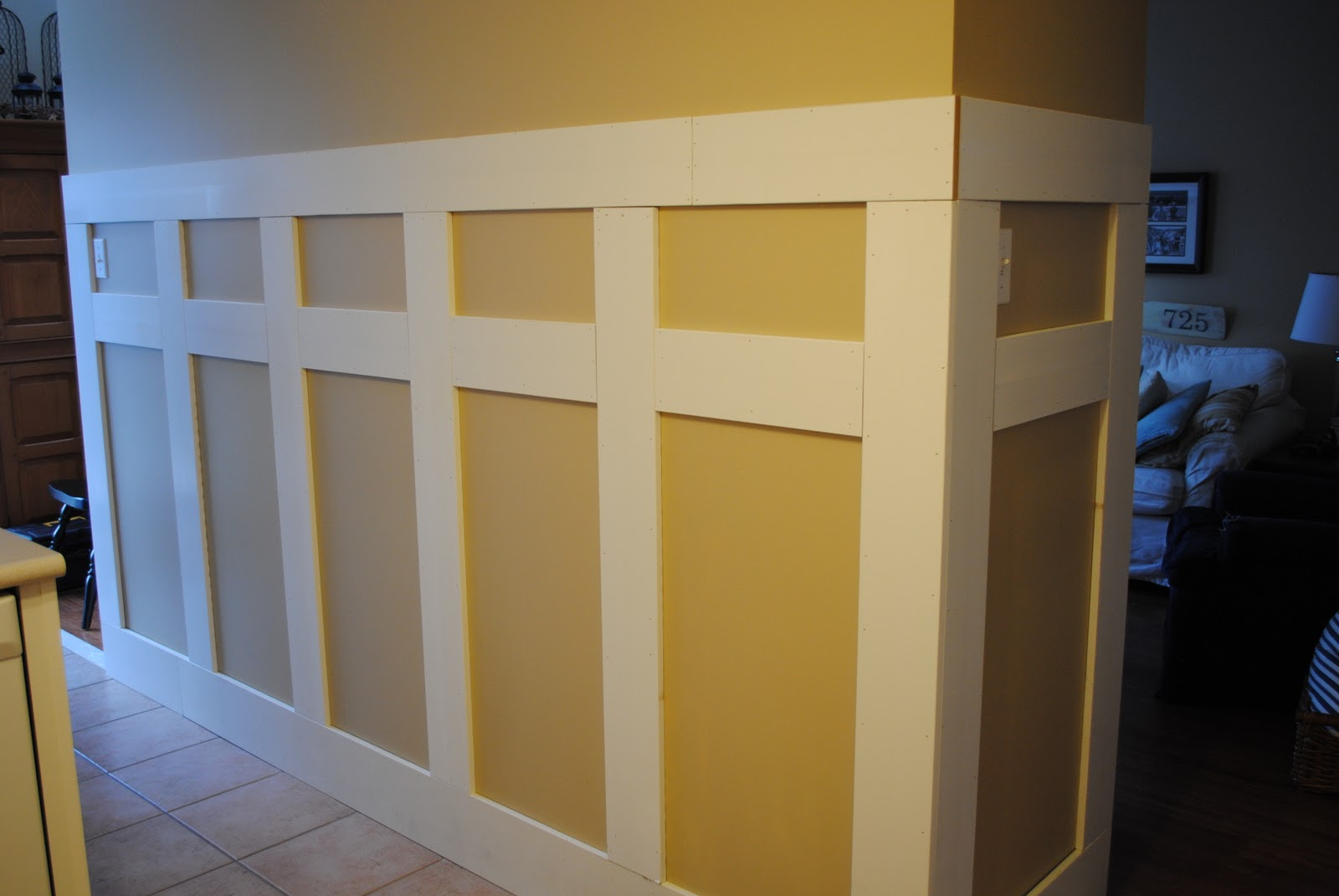 Rustic Maple: Adding Some Architectural Interest~Tackling Another Wall