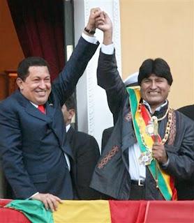 Fernando Lugo - l'Amérique latine 20060122la_paz_hugo_chavez_evo_morales