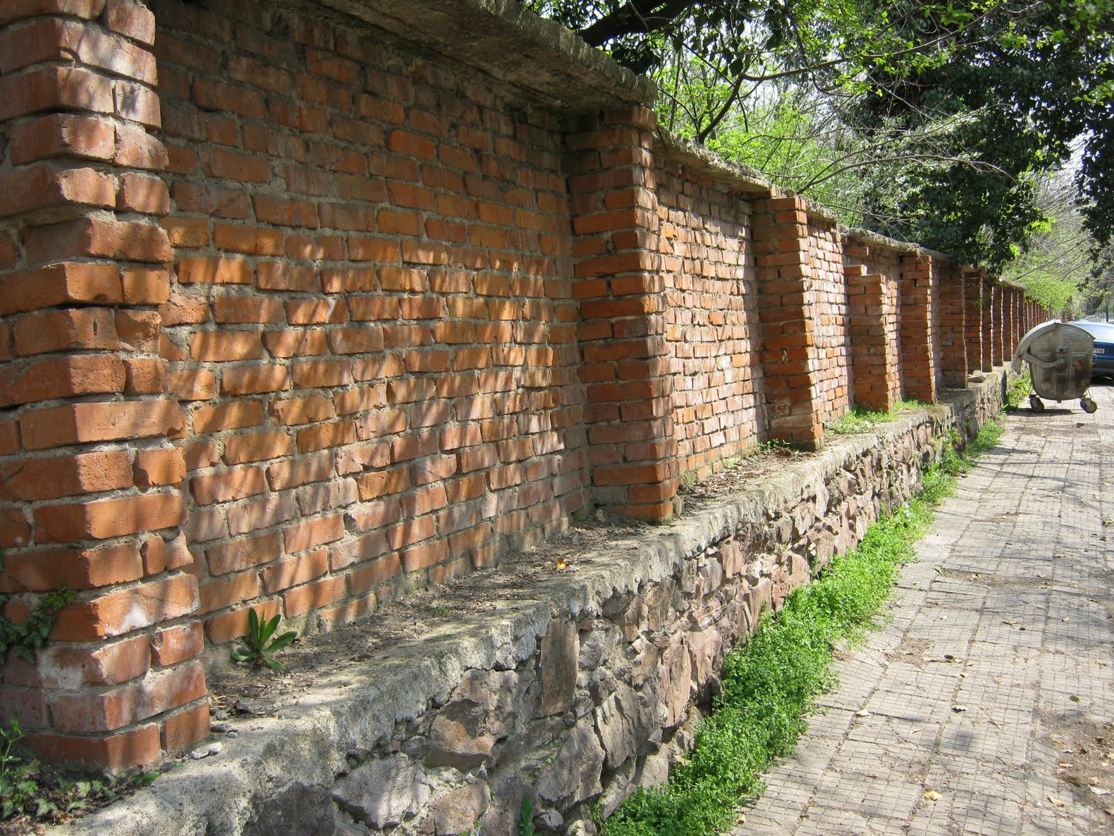 Typical Yambol Boundary Brick Wall