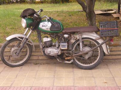 Classic Russian Motorbike in Yambol