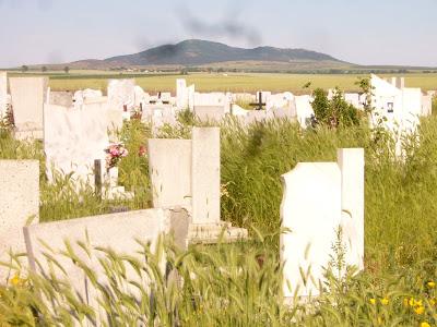 Yambol's Cemetery Under Bakardzhik Peak