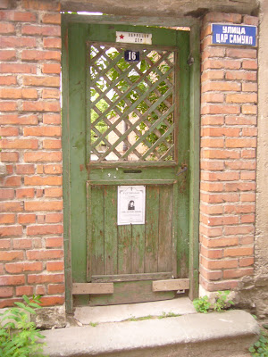 An Old Wooden Door To A Yambol Town House