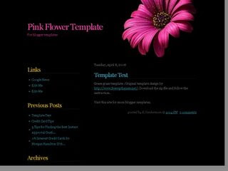 Pink Flower Black Background