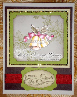 stampin up christmas card bells and boughs