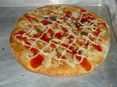 adonan roti pizza bahan bahan 250 350 ml air hangat kukus 1 sdm active ...
