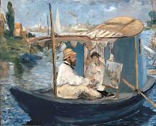 Manet en su estudio flotante