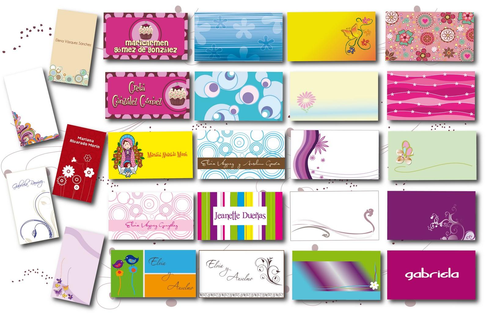 Some of my Designing: Tarjetas de presentación