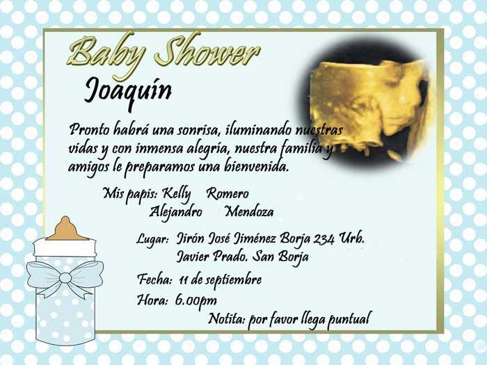 Invitaciones De Baby Shower