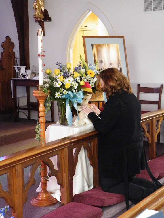 Mommy Kneeling at Altar