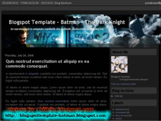 Blogger Templates,Batman-The Dark Knight