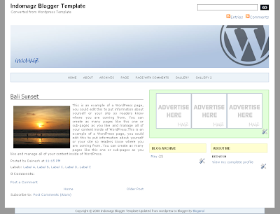 Blogged up!: Free 3 column cool blogger template download