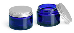 Blue Glass with Sealed Aluminum Lid