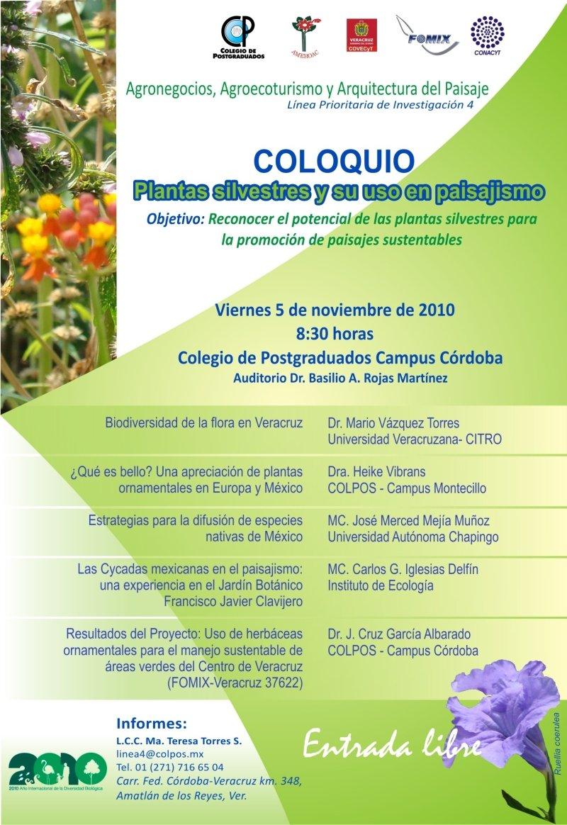 Jehuite evento sobre plantas nativas en el paisajismo for Proyecto de investigacion de plantas ornamentales