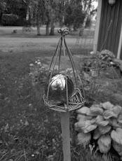 Min trädgård i svartvitt