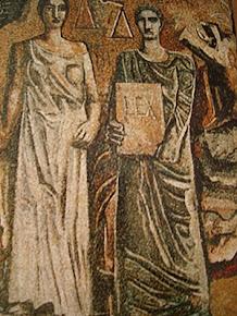 La giustizia e la legge - mario sironi, mosaico