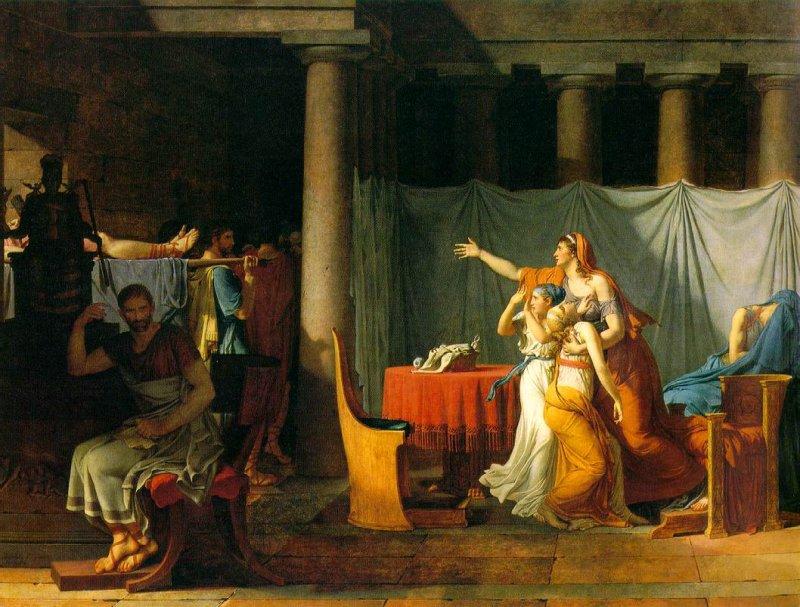 Artes plásticas: Los lictores devuelven a Brutus los cuerpos muertos ...
