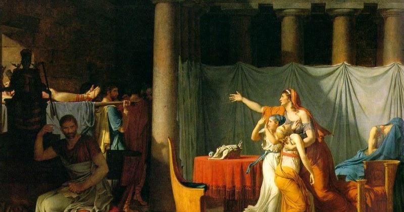 Artes Plsticas Los Lictores Devuelven A Brutus Cuerpos Muertos De Sus Hijos
