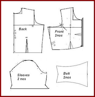 Back Button Blouse Cutting Method 111