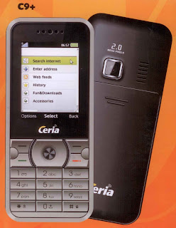 HP Ceria C9+ CDMA 1x - Fitur Lengkap