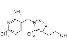 Estructura química de la Tiamina