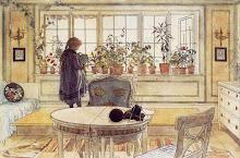 para desde my ventana interiores nórdicos de Carl Larsson