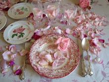 Rosas en el comedor